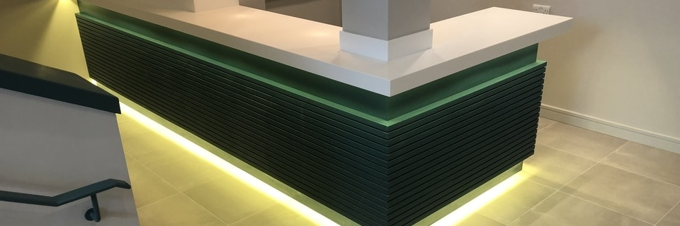 Reception Desk manufacture Cornwall